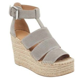 "Marc Fisher espadrilles ""adore"" wedge gray NEW"
